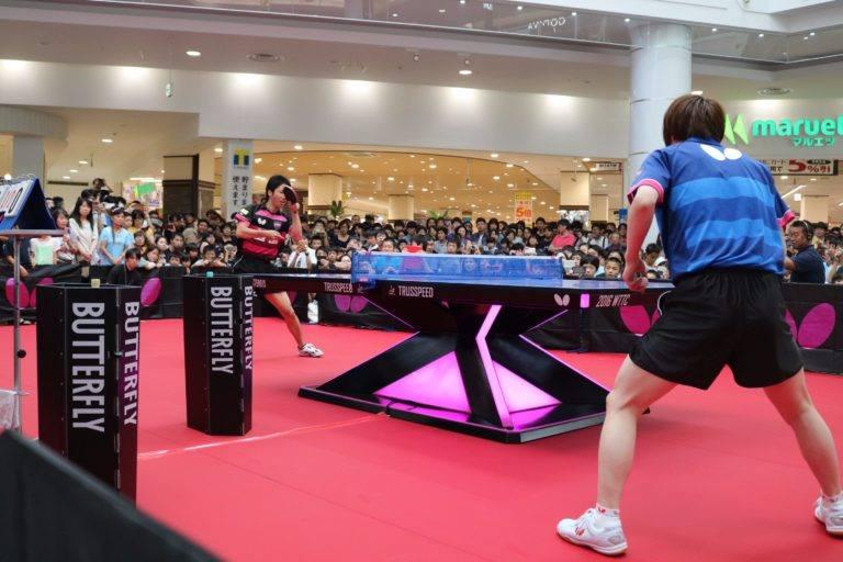 イオンモールの卓球イベント