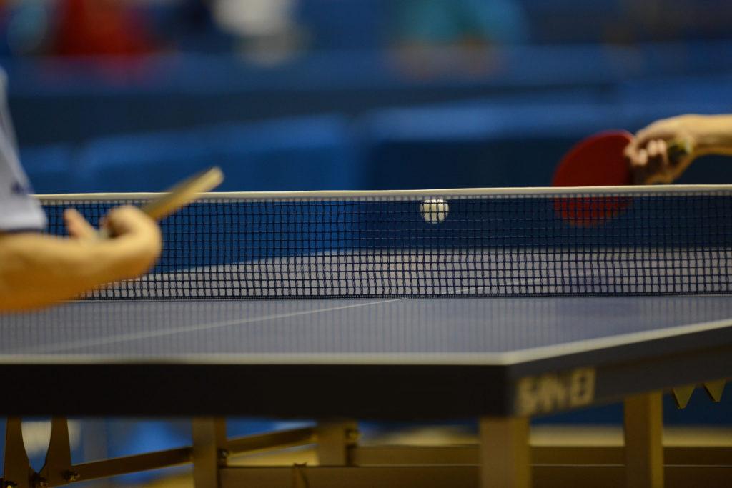 写真:卓球の試合/撮影:ラリーズ編集部