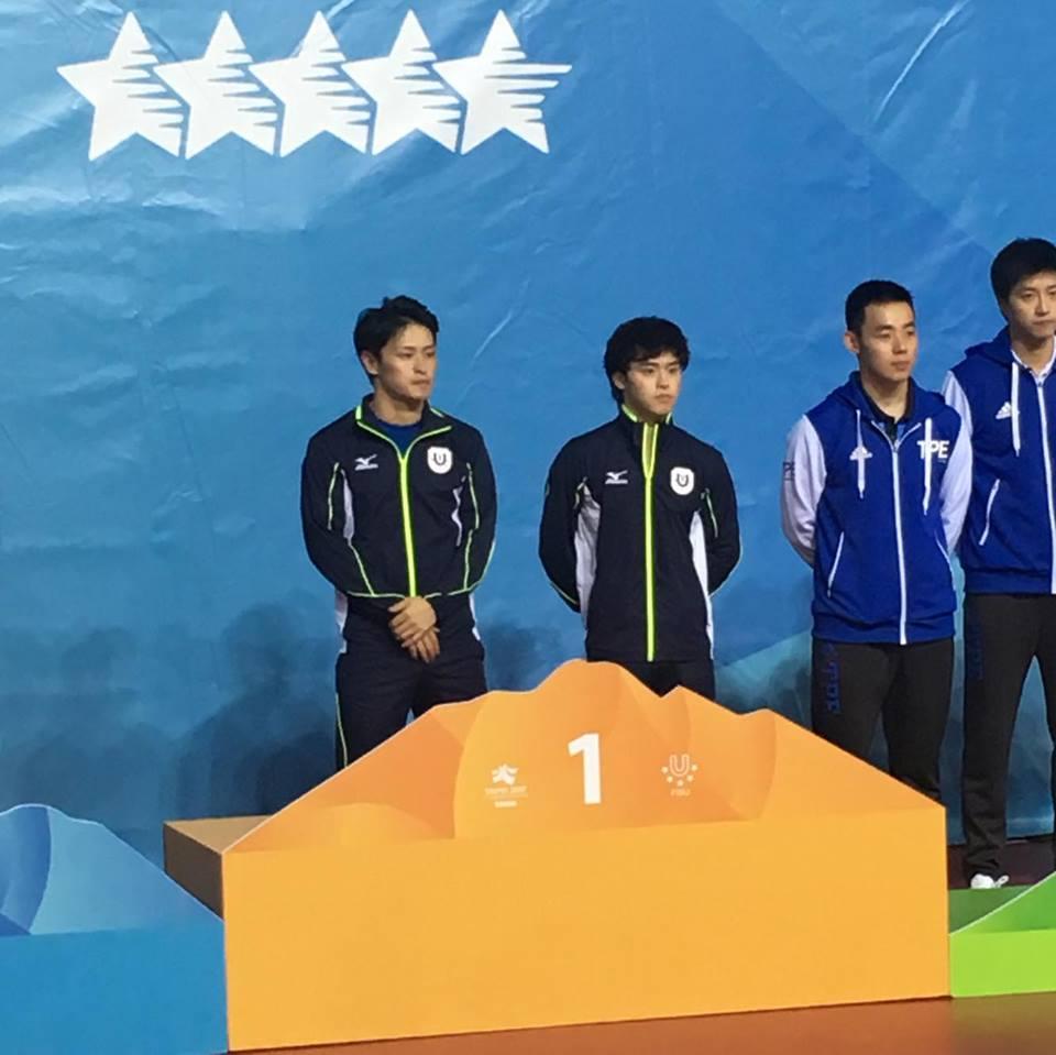 【ユニバーシアード速報】男女ダブルスで金メダル獲得!