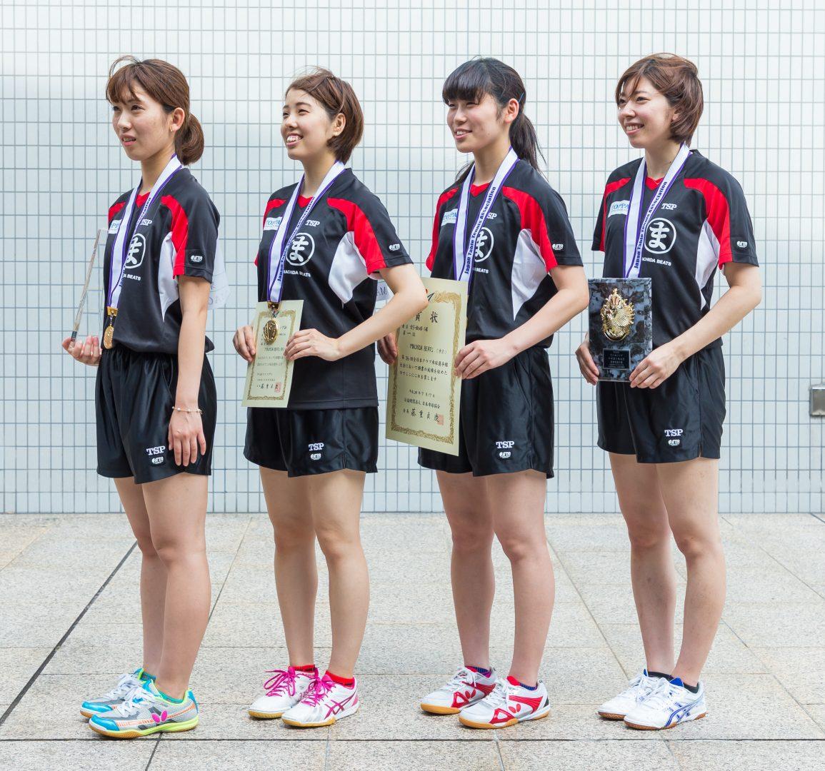 日本リーグスポット参戦 卓球クラブ日本一のMACHIDA BEATSが公式サイトを公開