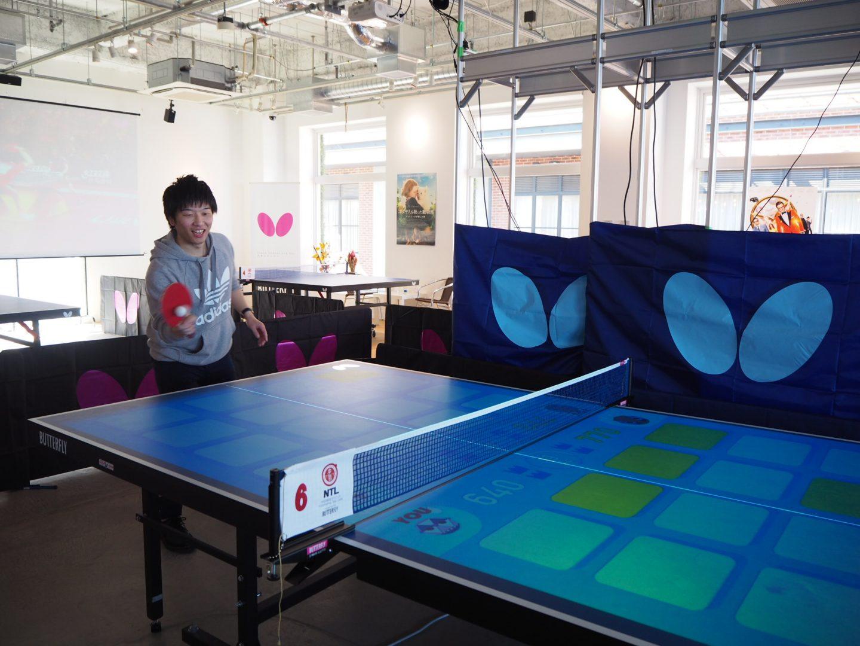 最新テクノロジーを使った新感覚卓球ゲームがみなとみらいに登場