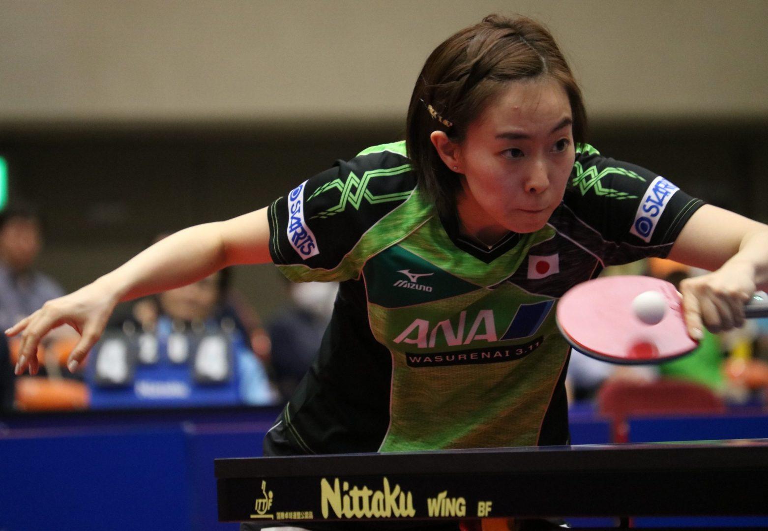 石川佳純が3連勝で好発進(アジアカップ2018・女子・初日の結果)