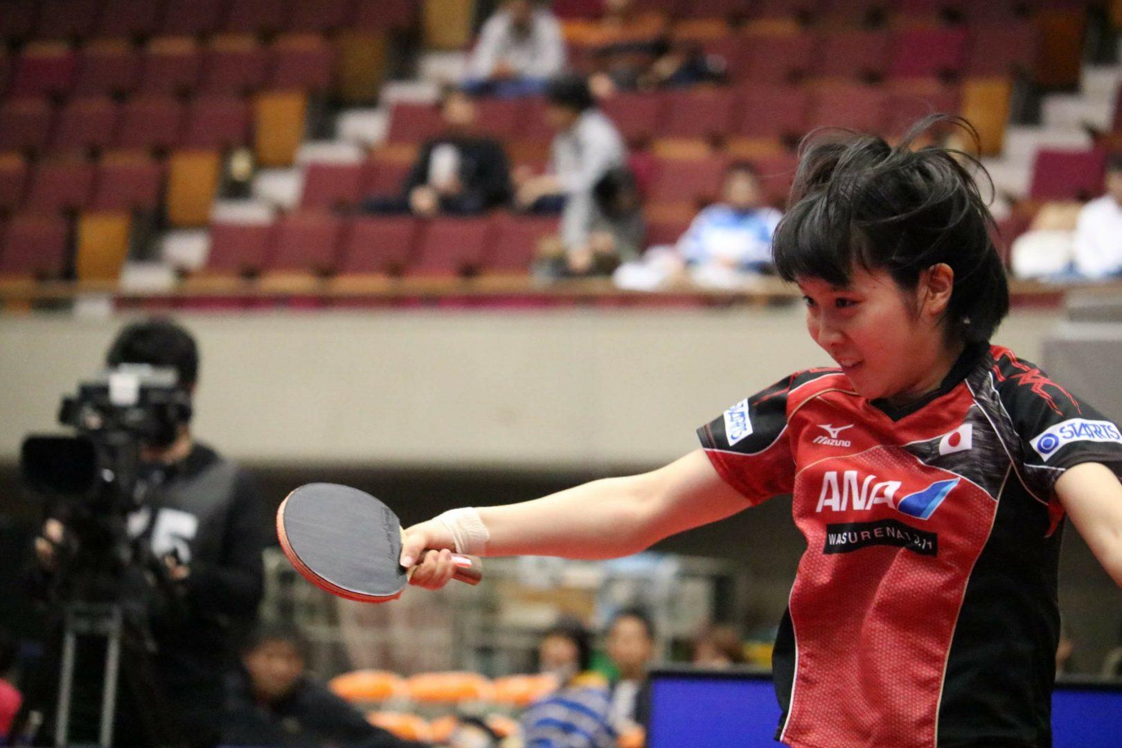 平野美宇、4連敗を喫した因縁の中国選手と31日対戦【卓球・ITTF中国オープン女子2日目の結果】