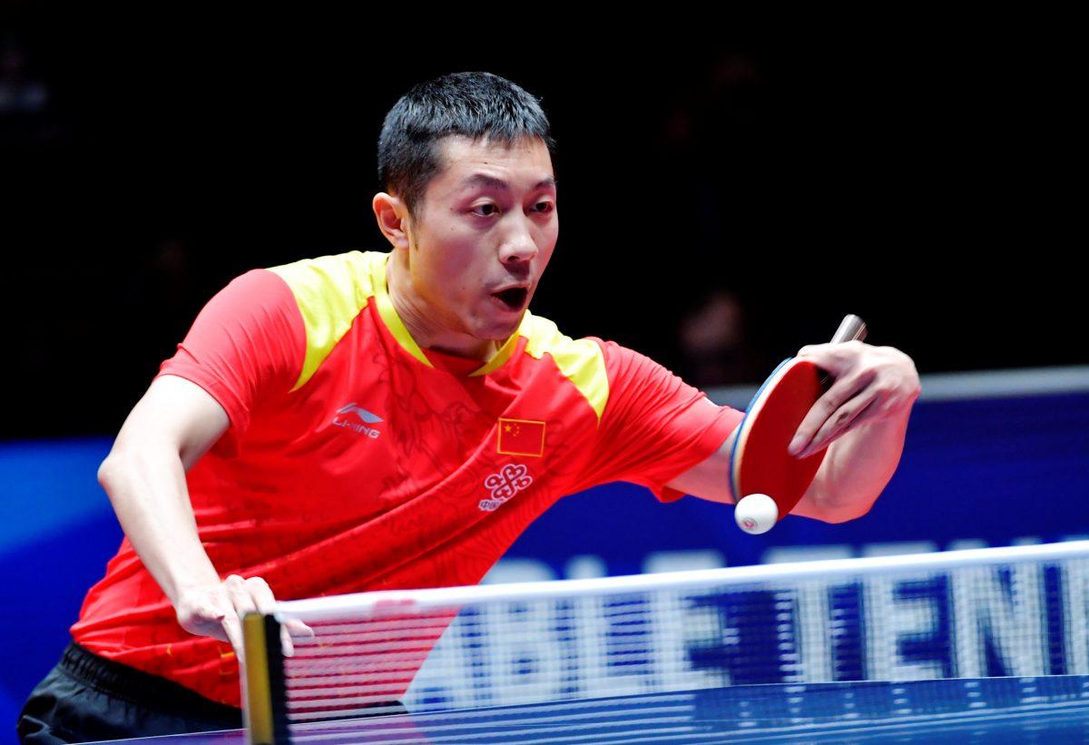 世界卓球2018で決勝点をあげた許シン(中国)