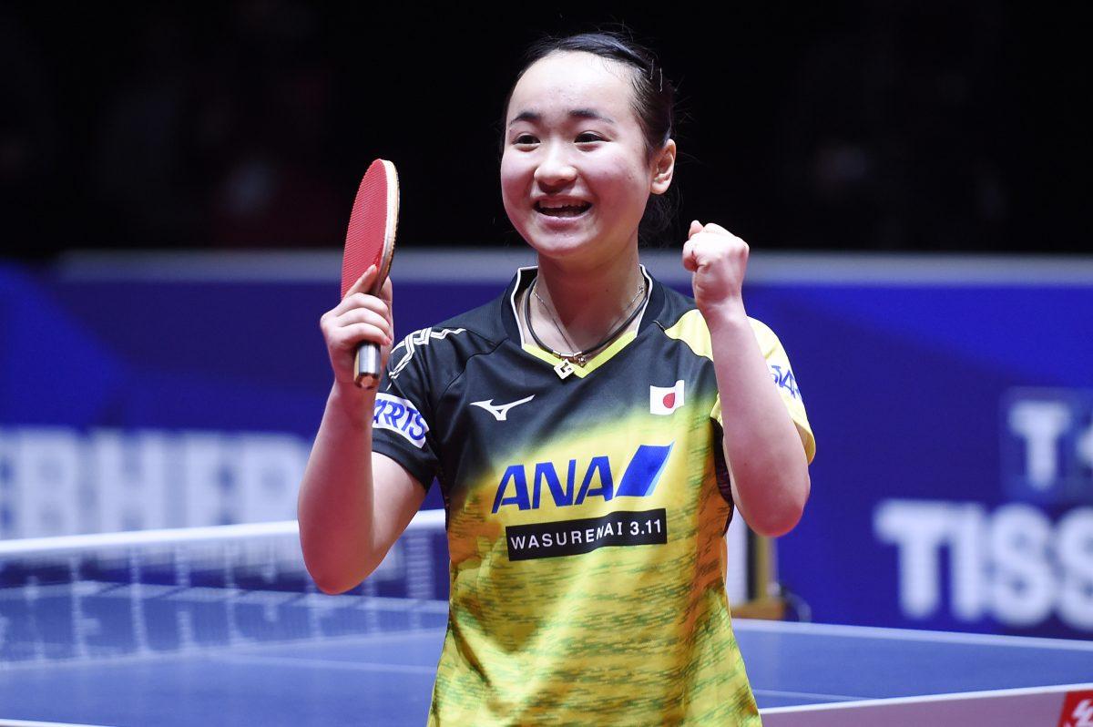 世界卓球2018中国戦で勝利をあげた伊藤(スターツSC)
