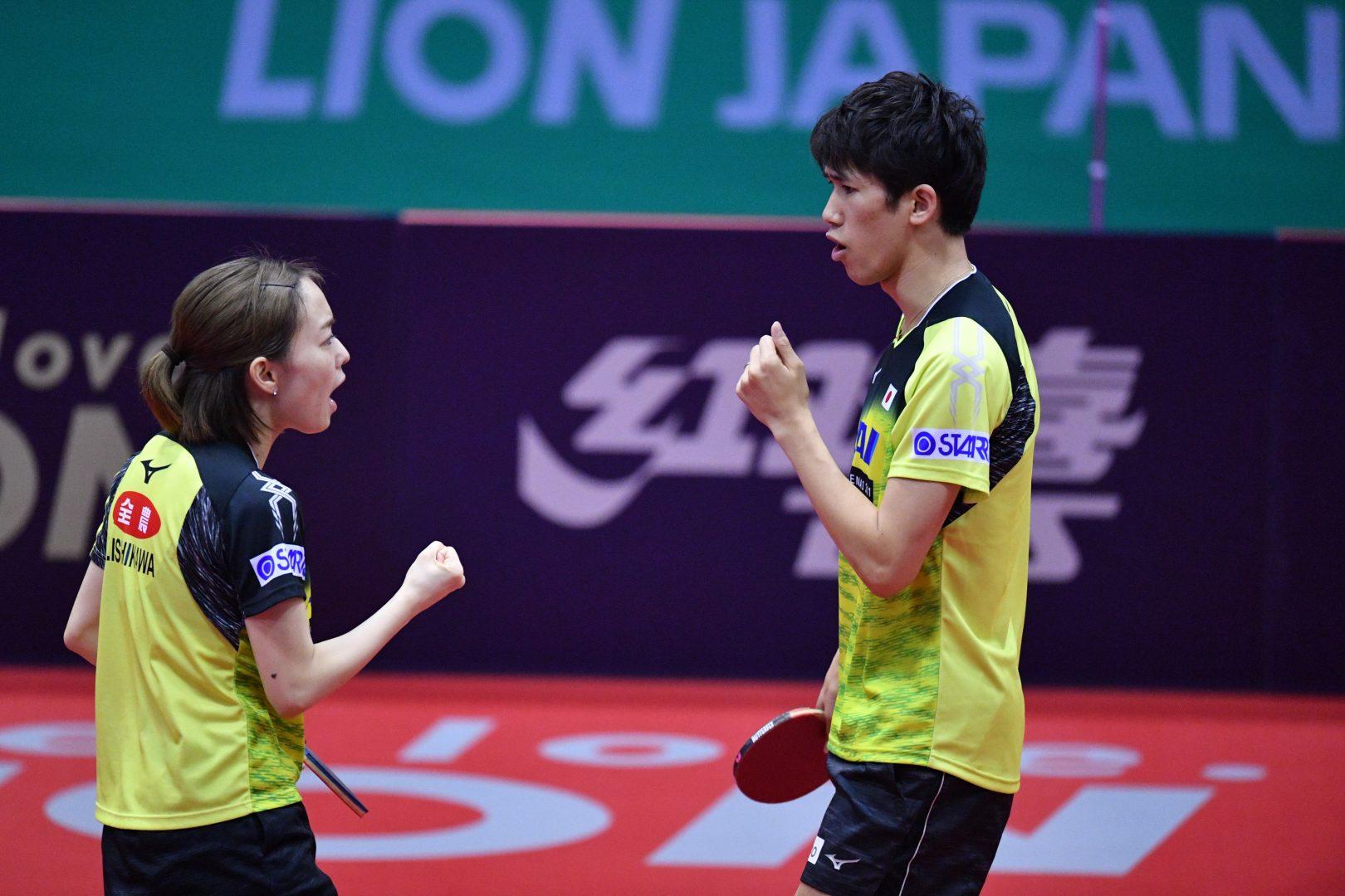 世界卓球金メダルの吉村・石川 2020に向け再始動<ライオン卓球ジャパンOP荻村杯>