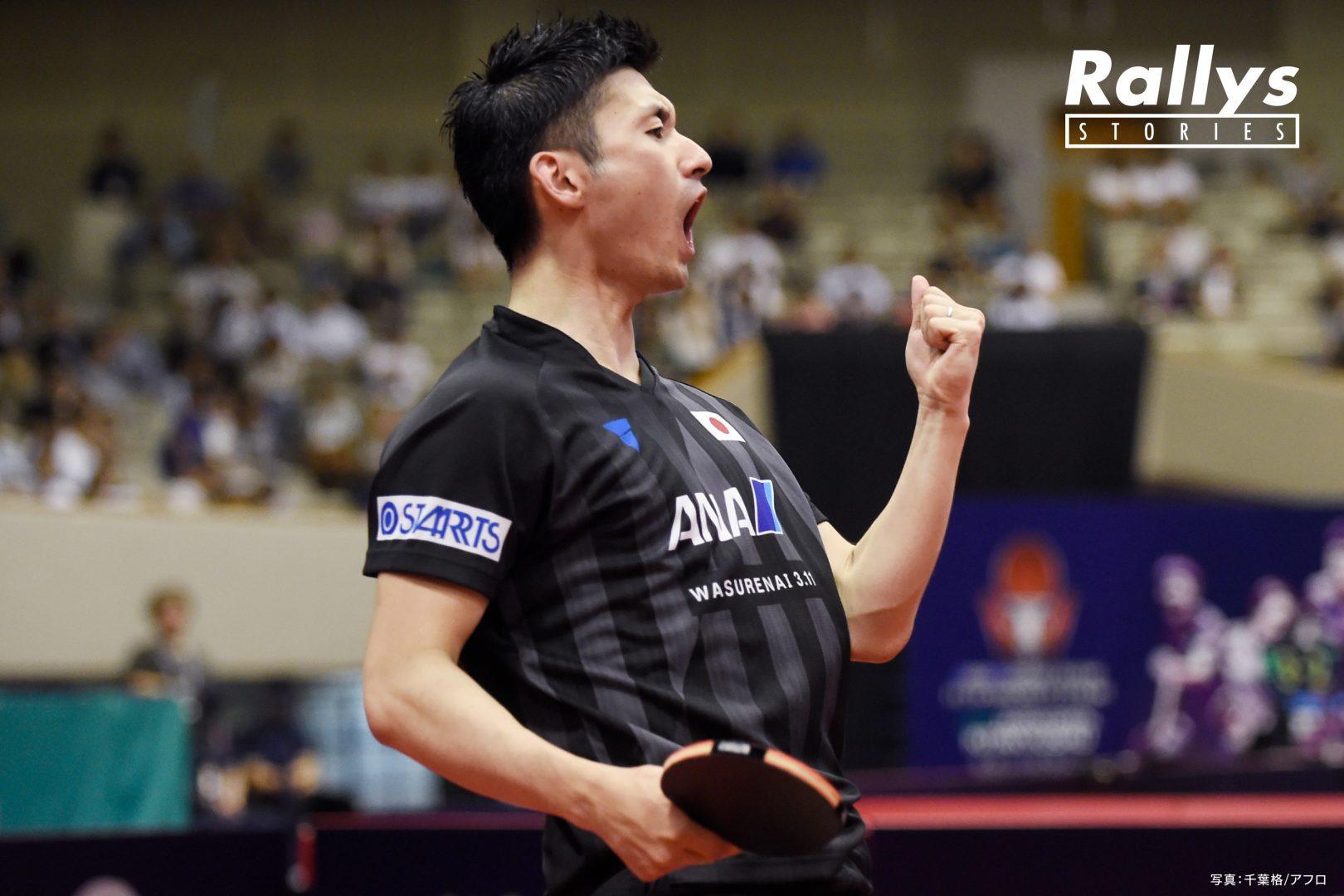 【卓球Photo Story】〈仕事人〉上田仁。雑草から這い上がった男はなぜプロへと転向したのか
