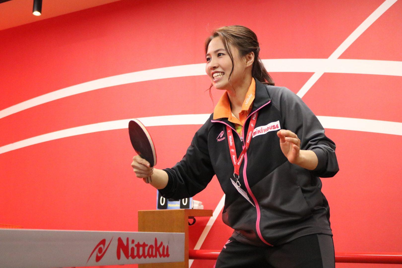 卓球・平野早矢香、東京ドームの新卓球スポット開店を祝う