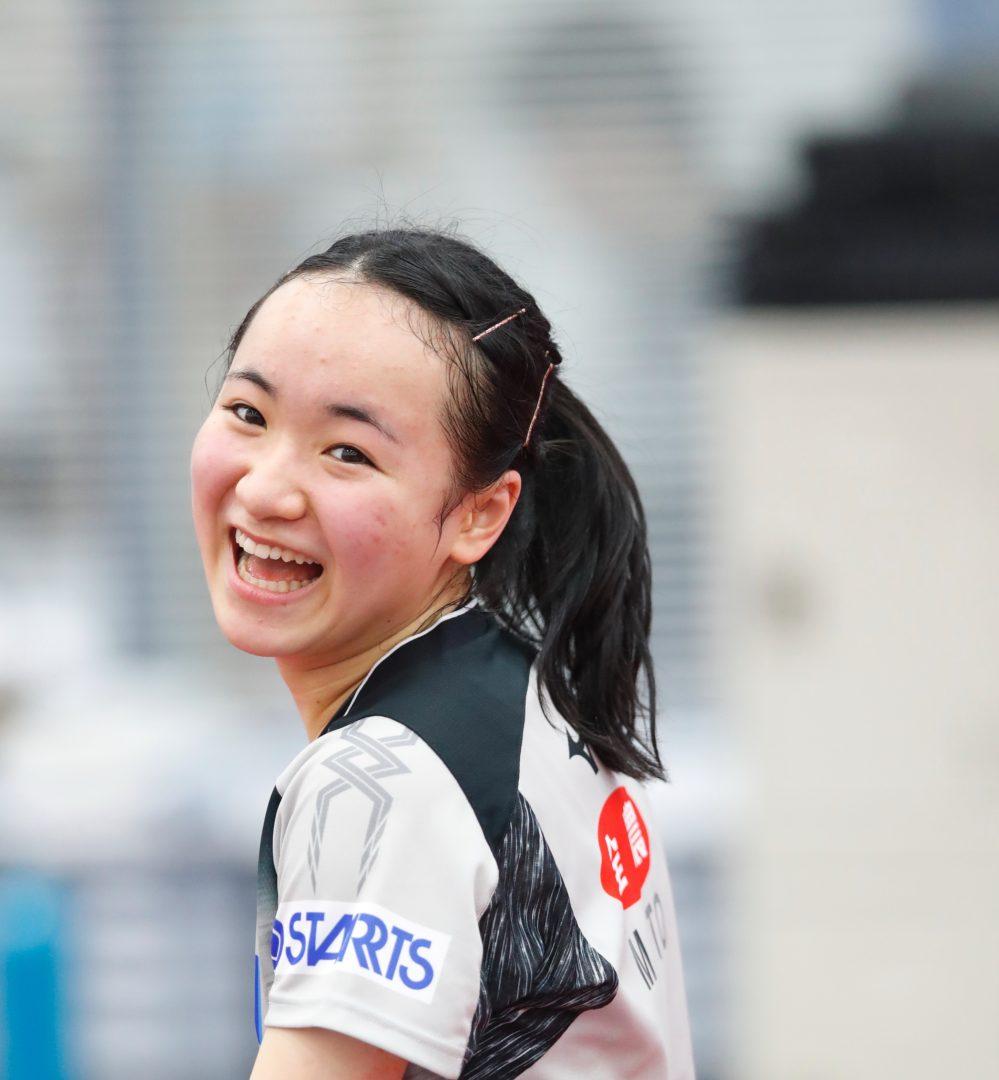 【卓球】伊藤美誠「最高に楽しかった」 伝統の一戦でナイスピッチング!