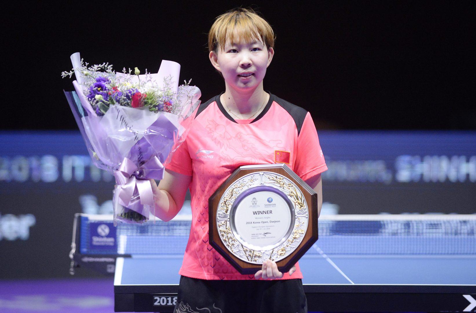【卓球】世界ランク1位、中国・朱雨玲が同世代ライバル破り女子単優勝<ITTF韓国オープン 6日目女子の結果>