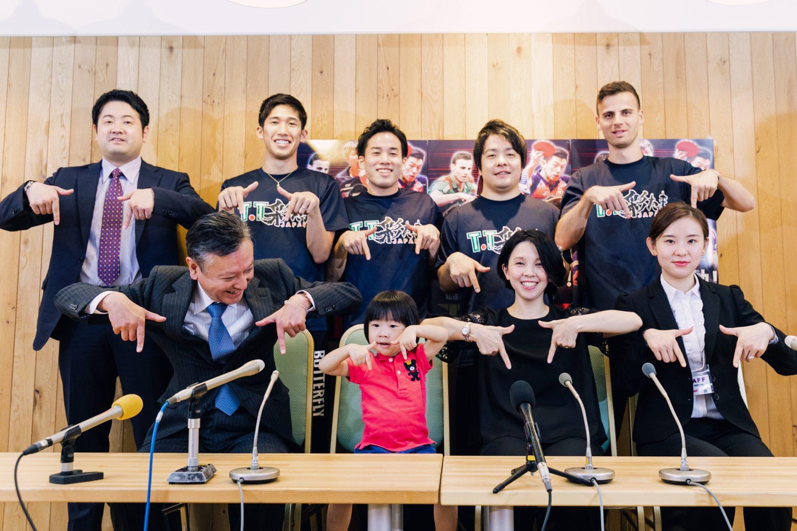【卓球・Tリーグ】T.T彩たま、異例の3才児の入団会見 第二の福原愛への期待高まる