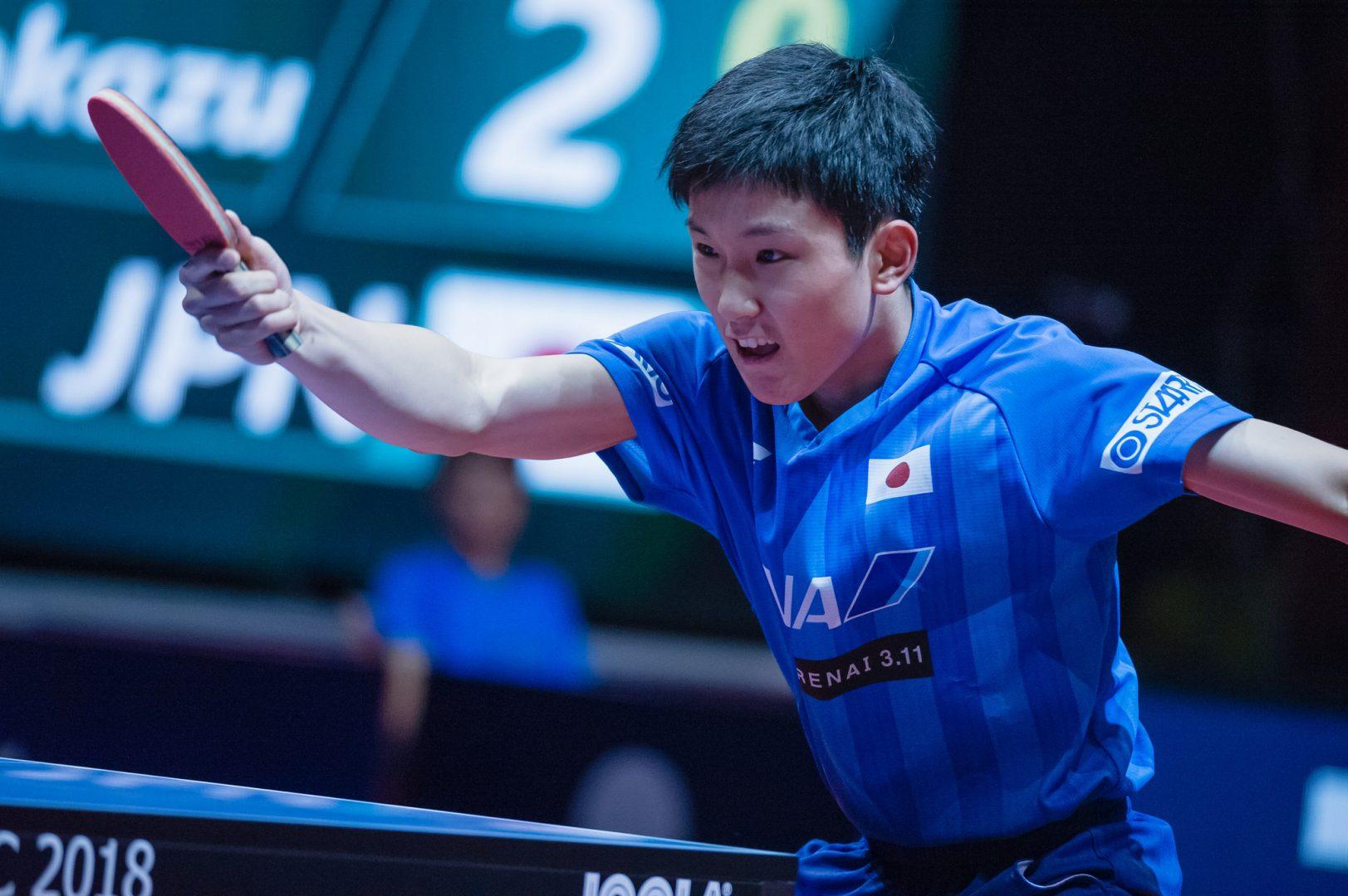 【卓球】張本智和が日本人トップキープで8位|男子世界ランキング(9月最新発表)