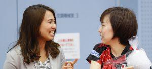 写真:平野早矢香(左)・石川佳純/提供:長田洋平・アフロスポーツ