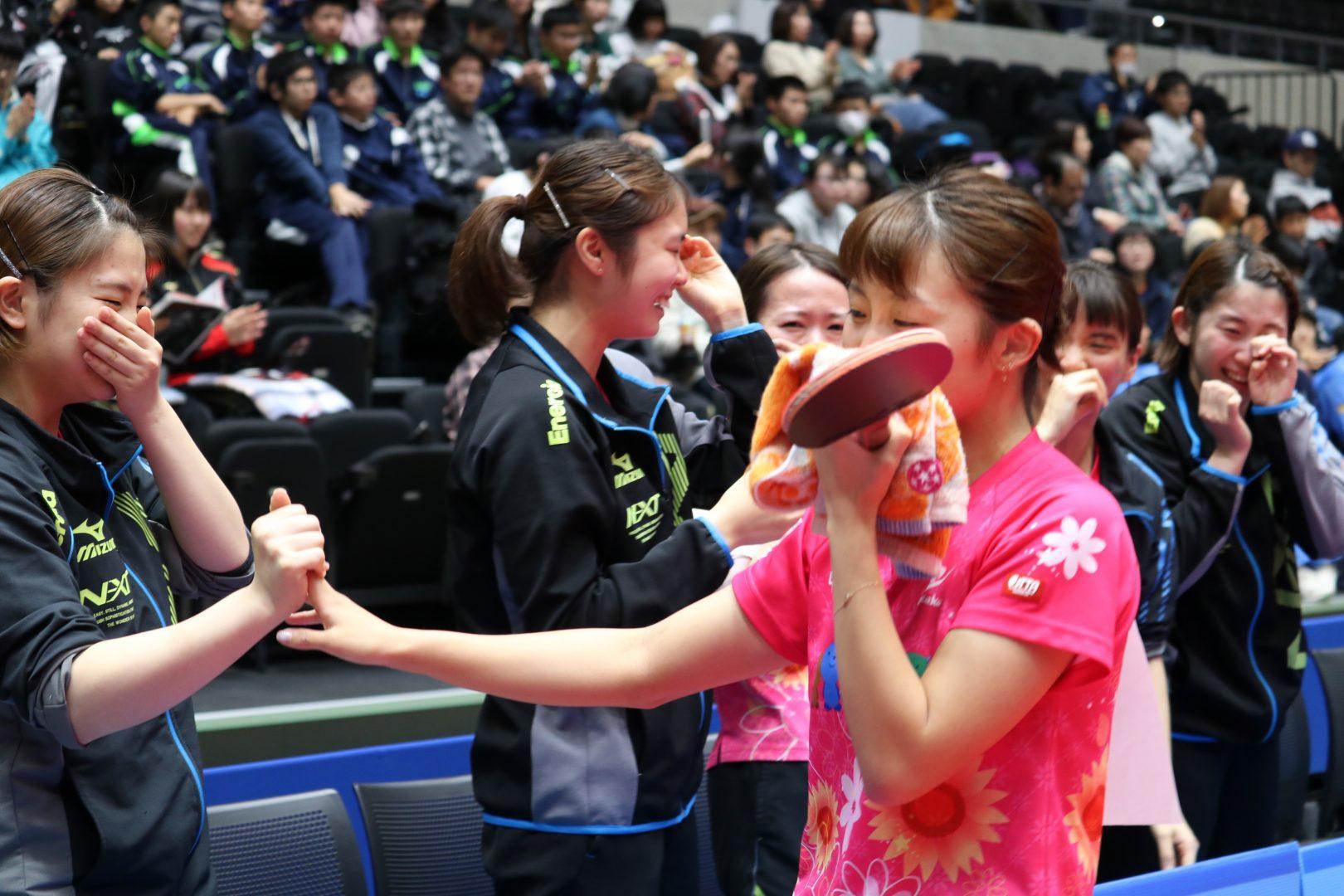 【卓球】中国電力が悲願の初優勝<内閣総理大臣杯 日本リーグプレーオフ2018女子>