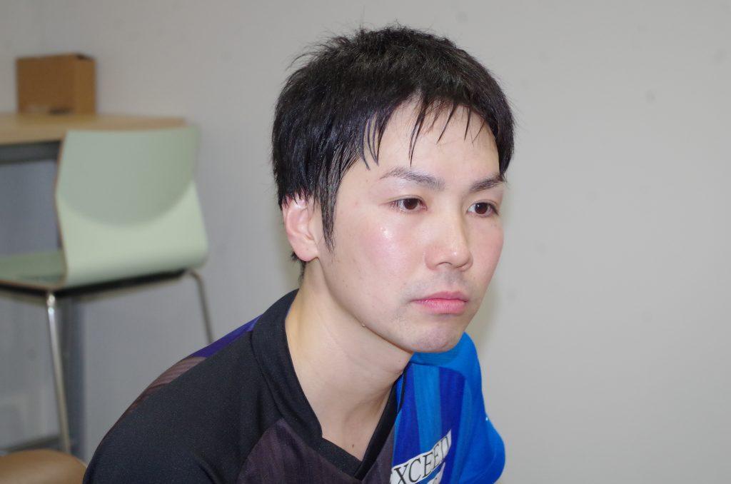 御内健太郎(シチズン時計卓球部・主将)