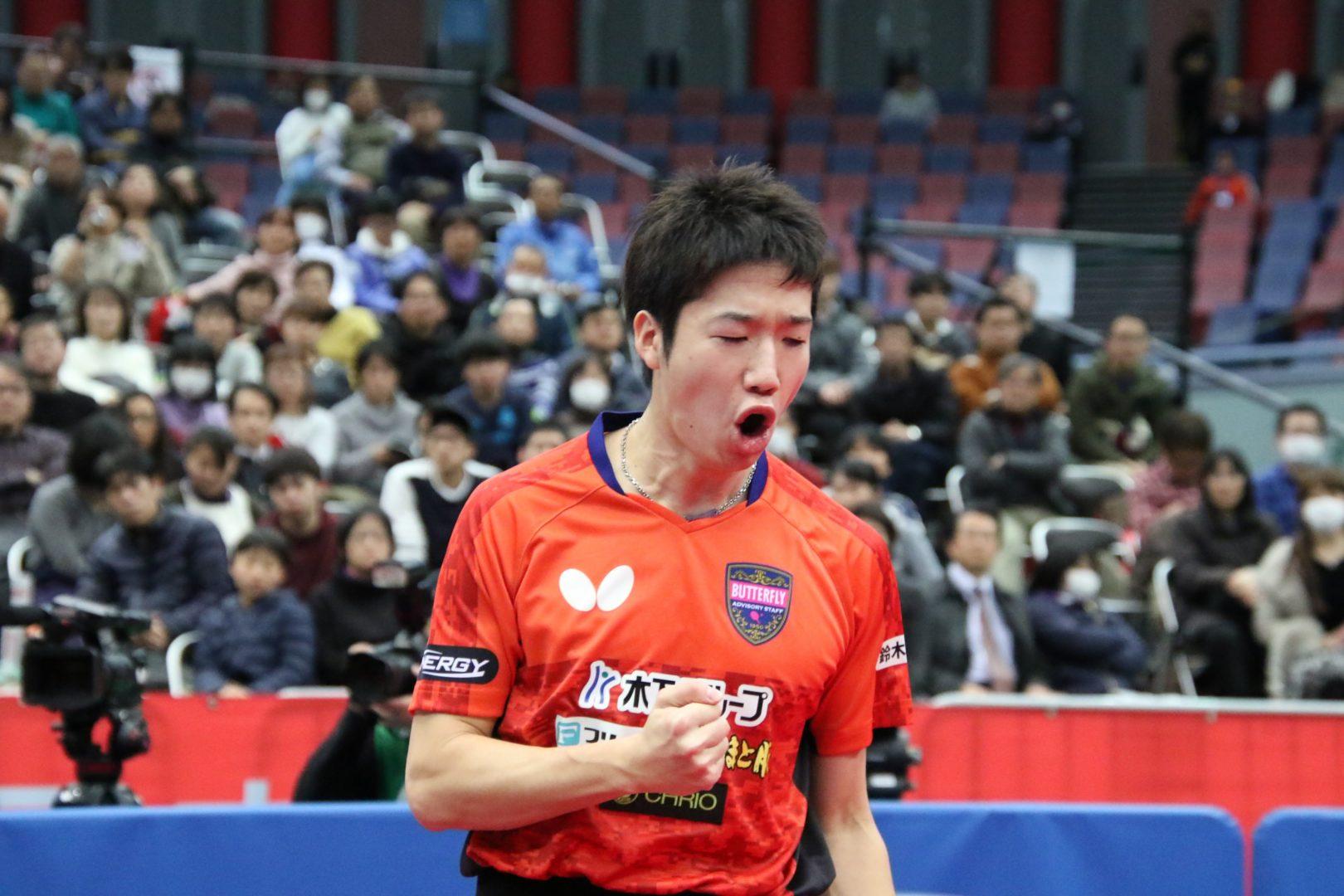 【卓球】天才サウスポー対決は水谷に軍配<全日本卓球2019・男子単>
