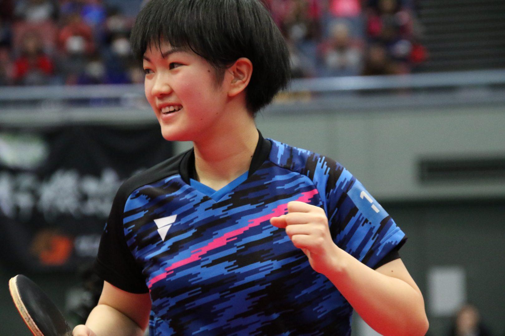 【卓球】14歳木原美悠 佐藤瞳のカットを攻略し逆転勝利 <全日本卓球2019・女子単>