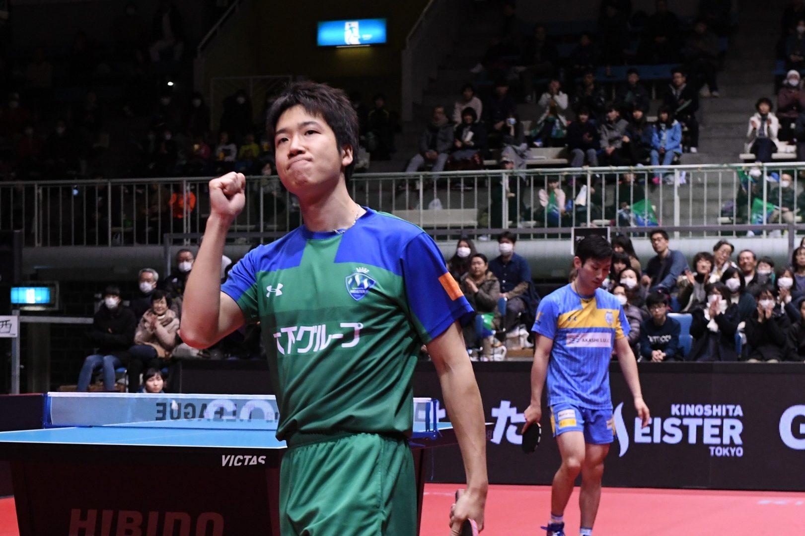 【卓球・Tリーグ】水谷・侯がチームを救う KM東京が岡山下し、連敗を4でストップ