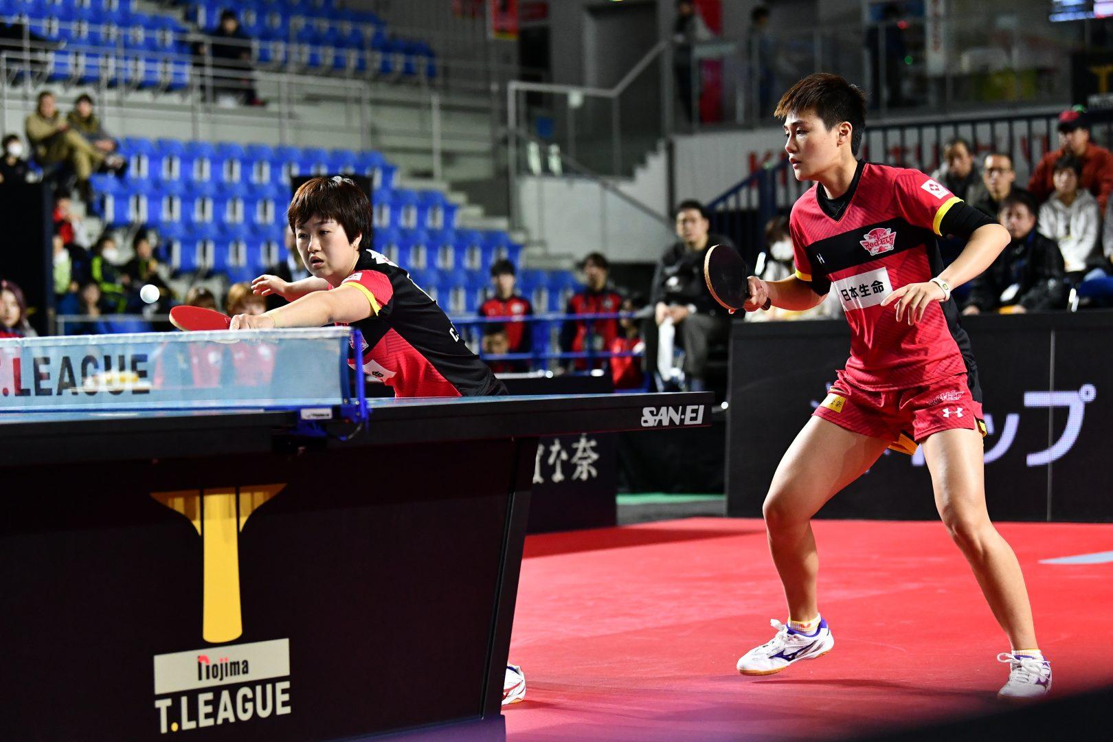 【卓球・Tリーグ】日本生命がプレーオフ進出決定 強さの秘訣はダブルスのサーブ力にあり