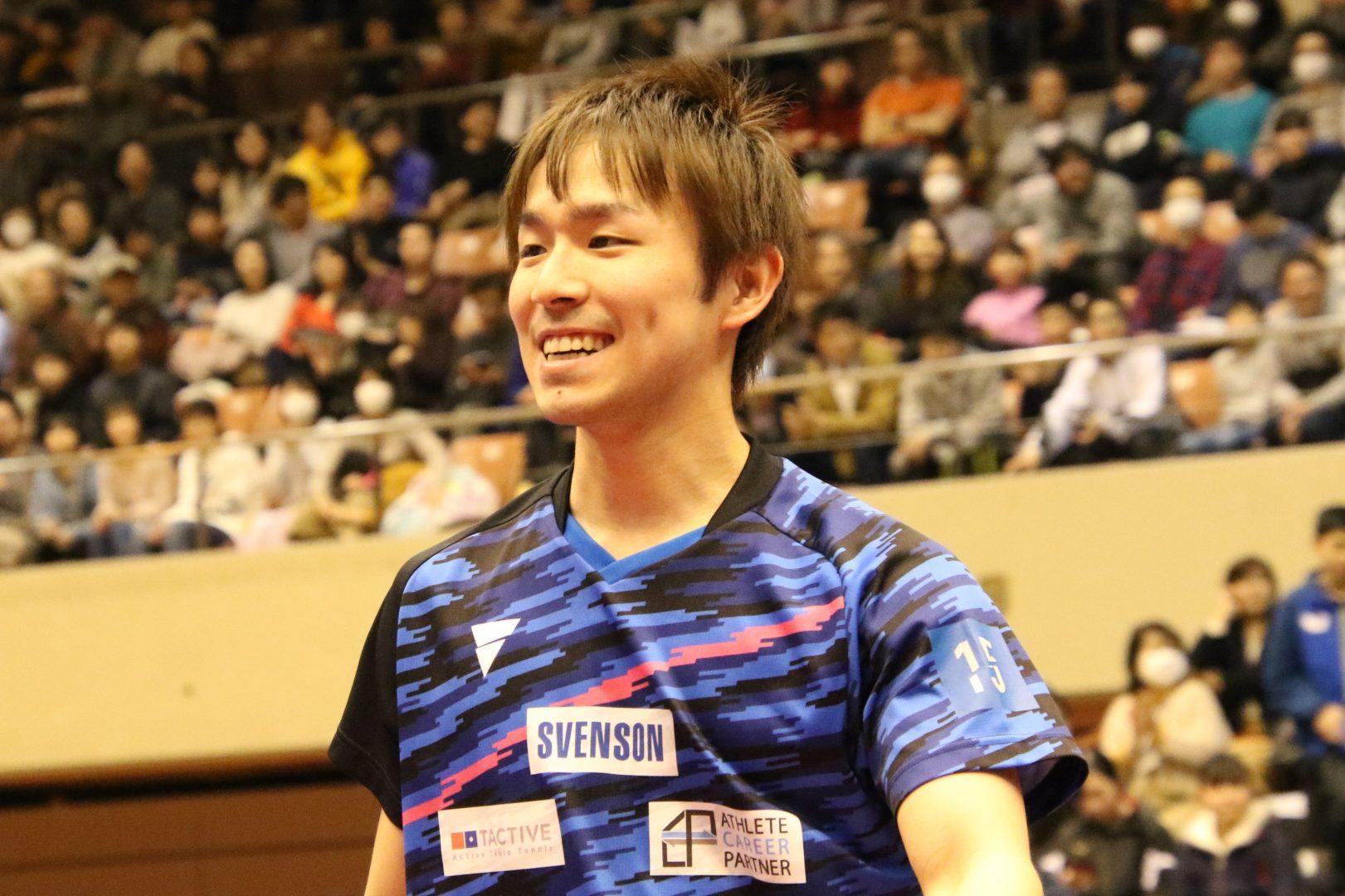 【卓球・トップ12】丹羽孝希が接戦ものにし3位入賞