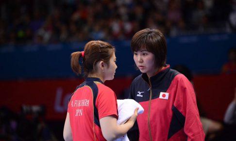 写真:福原愛さん(左)、張莉梓(チャン・リサ)コーチ/提供:琉球アスティーダスポーツクラブ株式会社