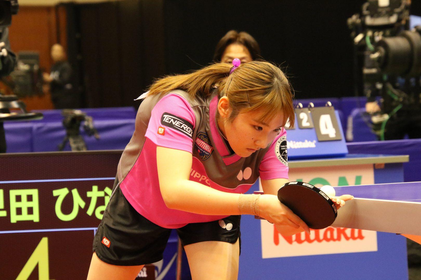 【卓球・トップ12】加藤美優が早田ひなに大逆転で決勝進出 世界卓球代表内定まであと1勝