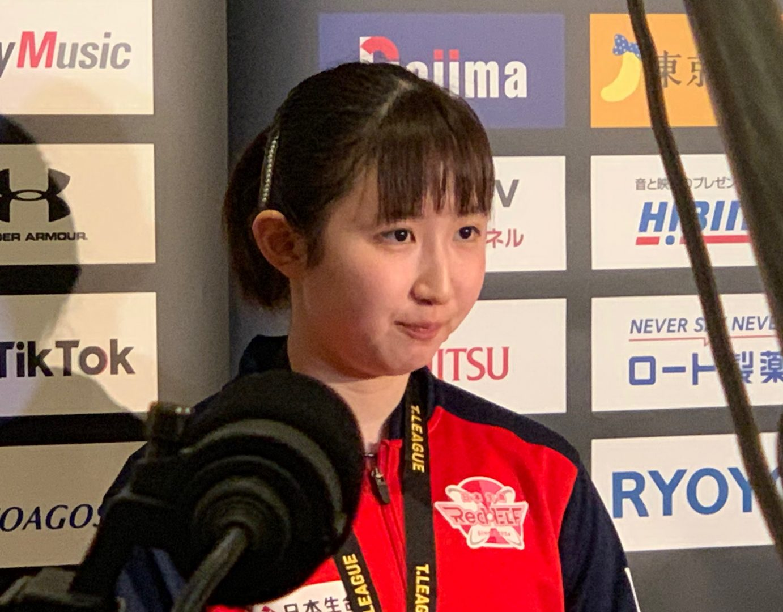 【Tリーグ】早田ひな「世界卓球代表選考会での後悔が、勝利に結びついた」