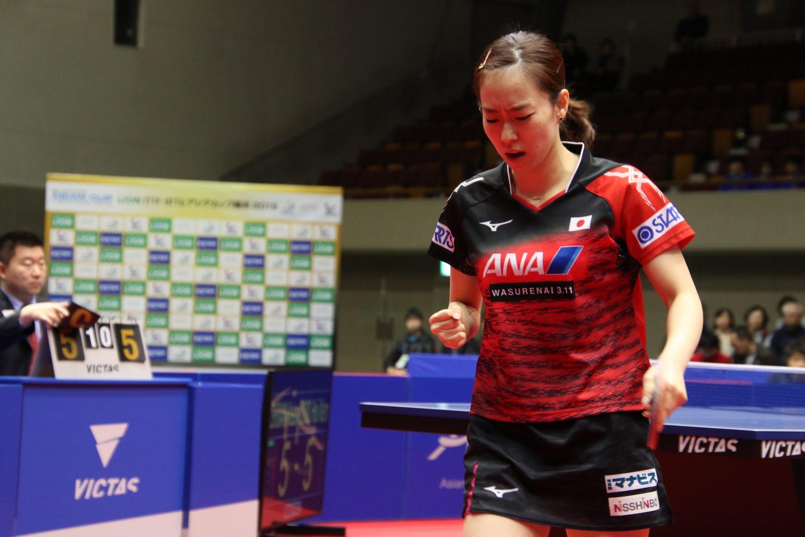 【卓球】石川佳純が準決勝進出<アジアカップ女子>