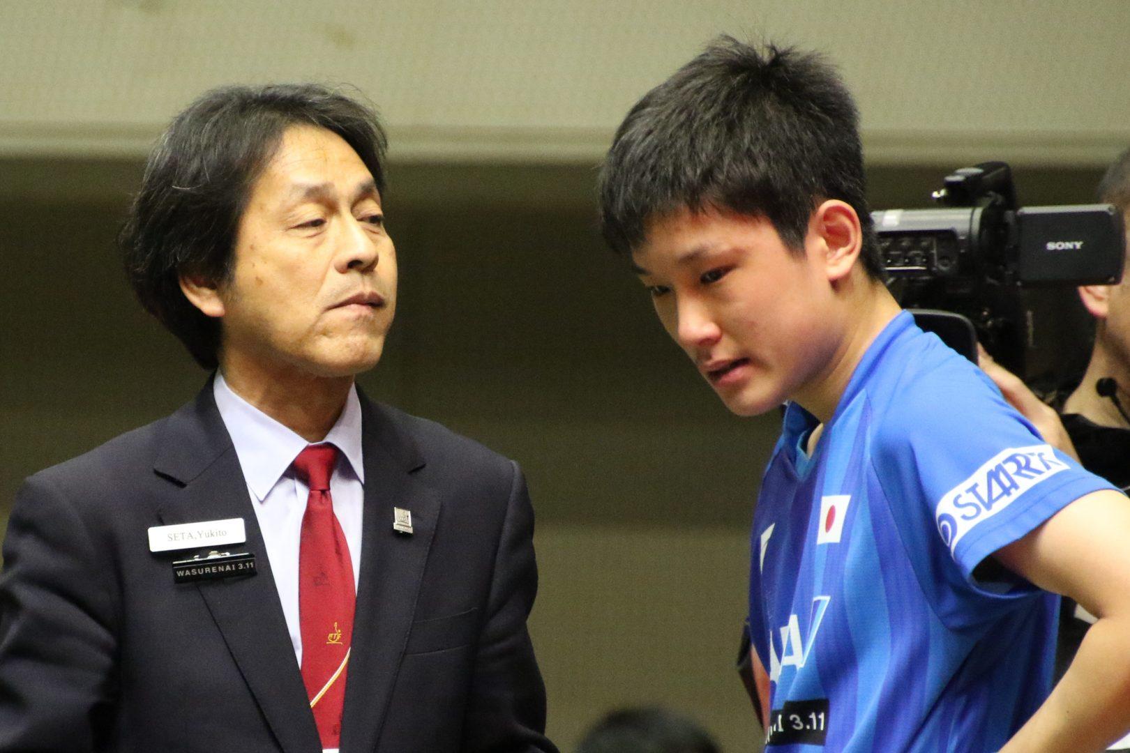 【卓球】張本智和、右手薬指にけが アジア杯で途中中断も