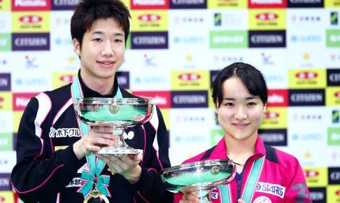 2019 卓球 全日本選手権 男女子シングルス 表彰式