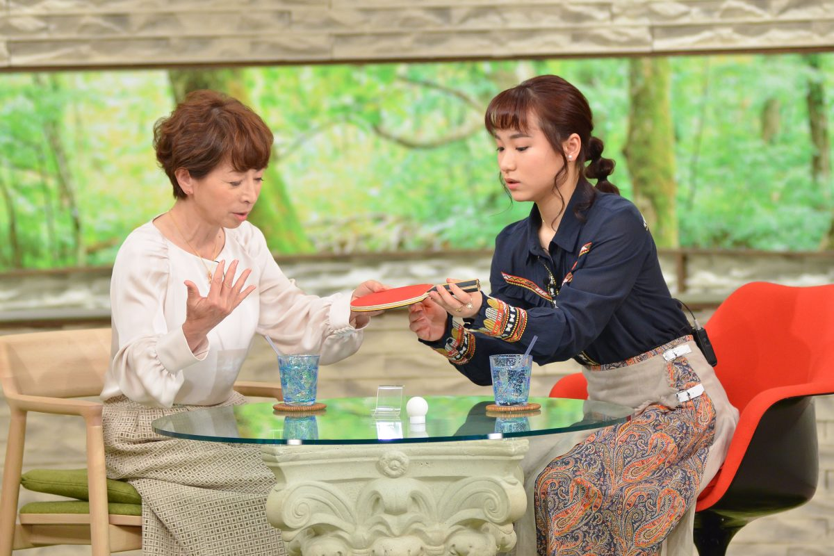 写真:阿川佐和子さん(左)、伊藤美誠/提供:MBS