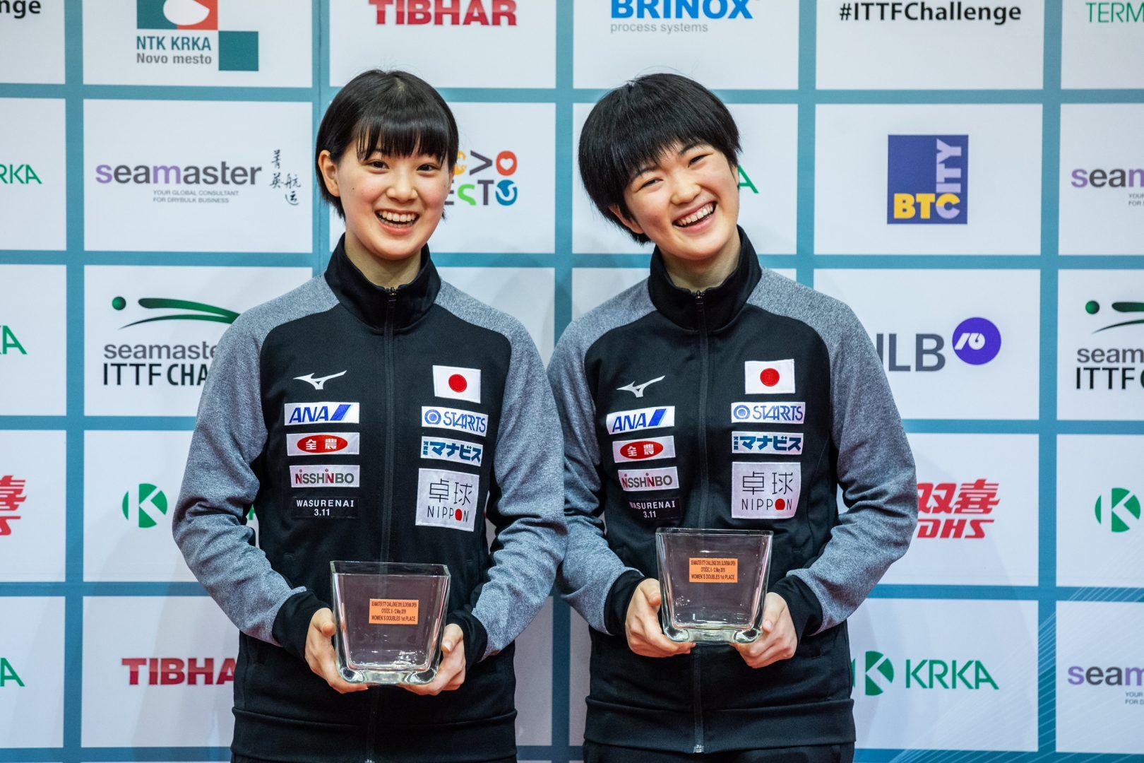 【今週の日本の卓球】スロベニアOP全日程終了 長崎美柚がU21とダブルスの2冠
