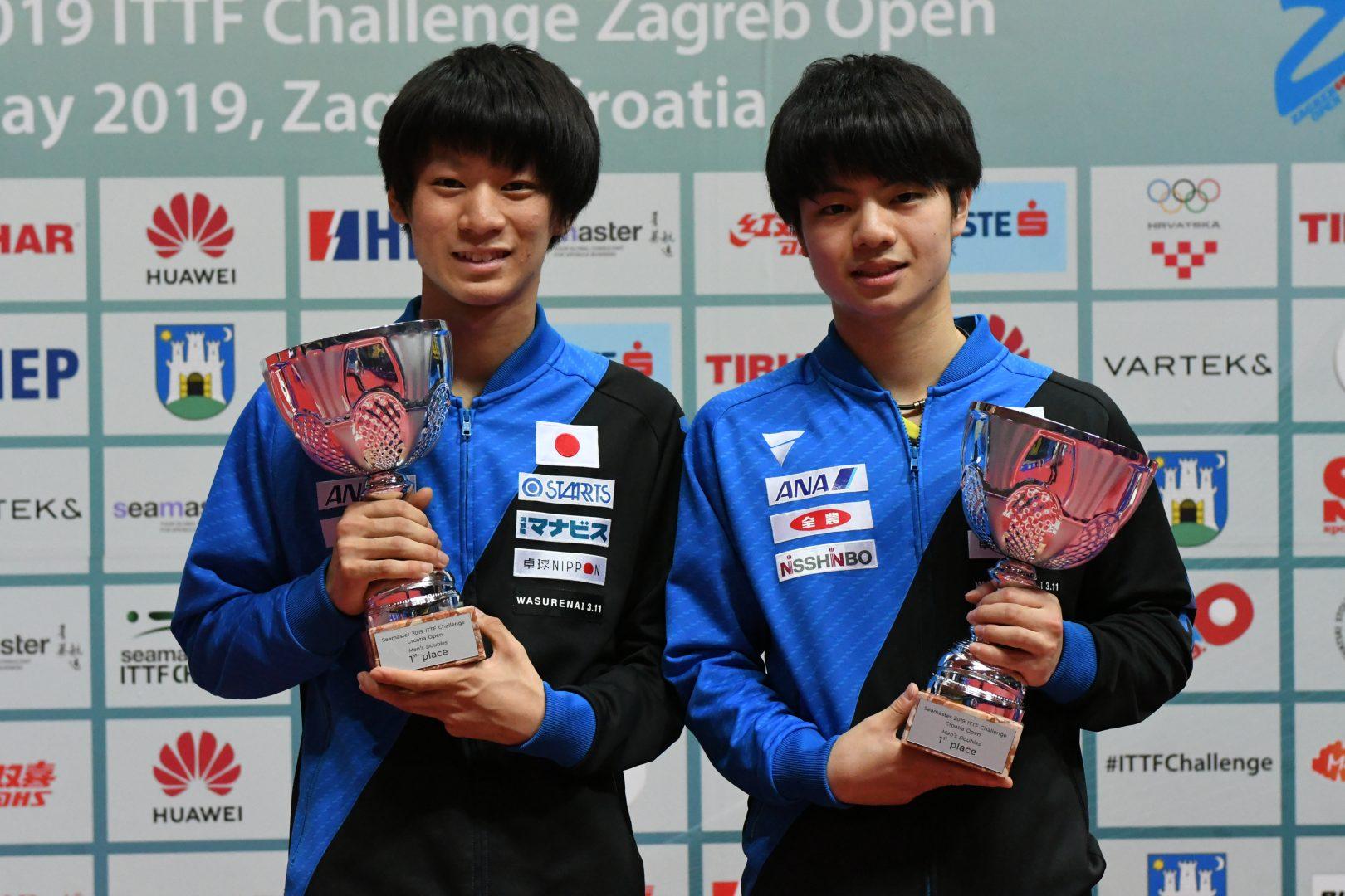 【今週の日本の卓球】クロアチアOP全日程終了 宇田幸矢がU21とダブルスの2冠