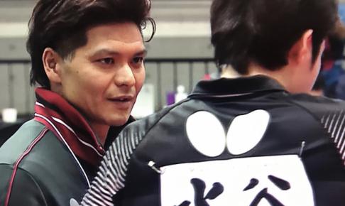 写真:国広哲弥(左)、水谷隼/提供:琉球アスティーダ