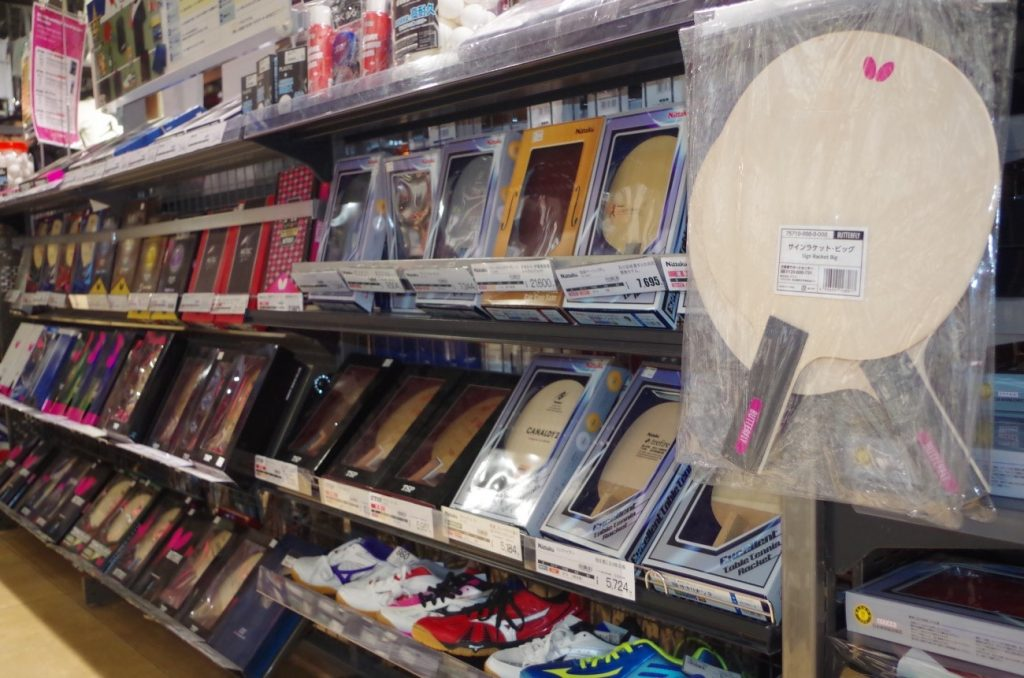 錦糸町店のラケット売り場