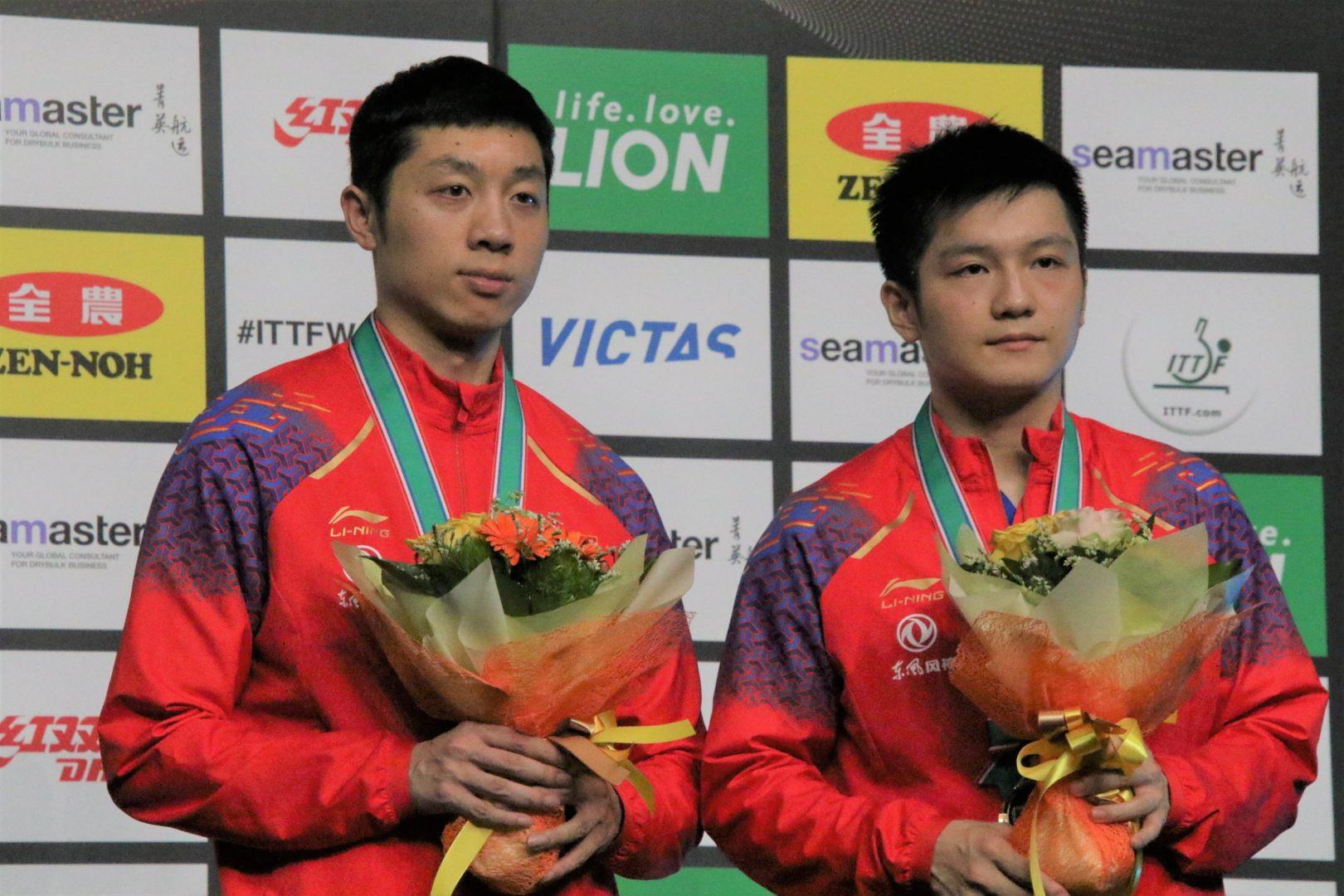 樊振東・許キン組、圧巻のストレート勝ち 許キンは混合複に続き2冠<ライオン卓球ジャパンOP荻村杯・男子複>
