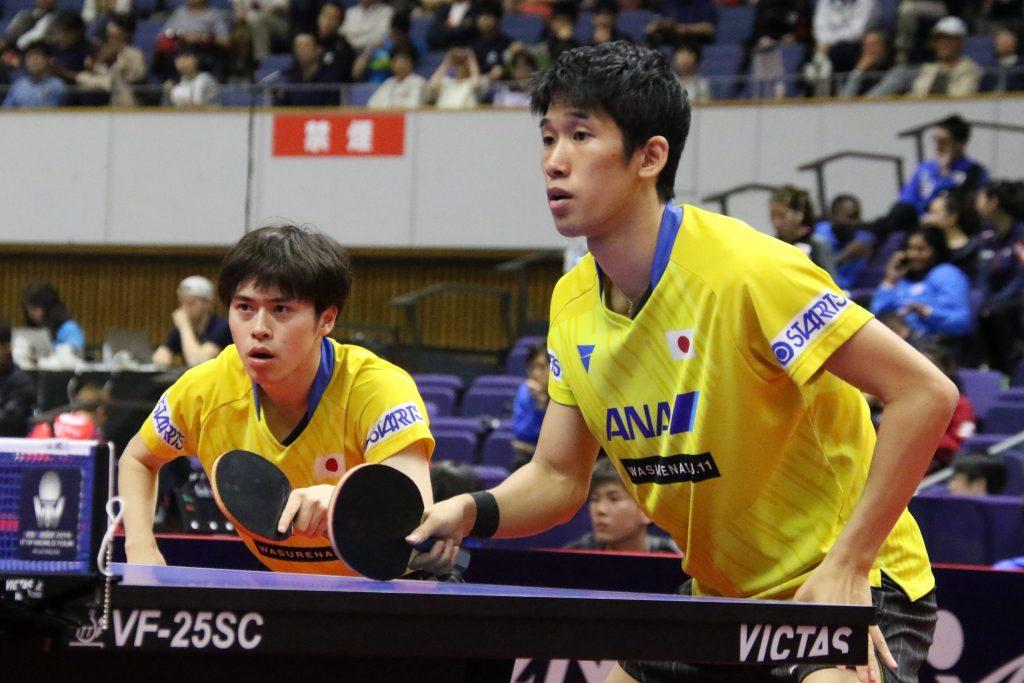 森薗政崇(左・岡山リベッツ)と吉村真晴(名古屋ダイハツ)