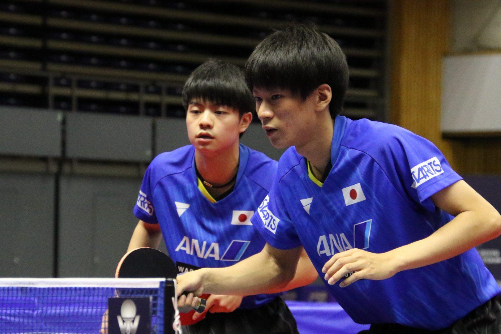 17歳コンビの戸上/宇田ペアが8強入り<ライオン卓球ジャパンOP荻村杯>