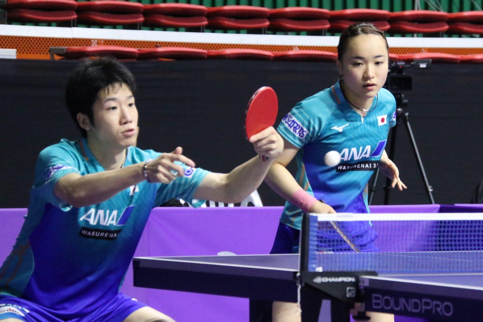 水谷・伊藤、世界卓球優勝ペアに敗戦も「コンビネーション悪くない」<韓国オープン>