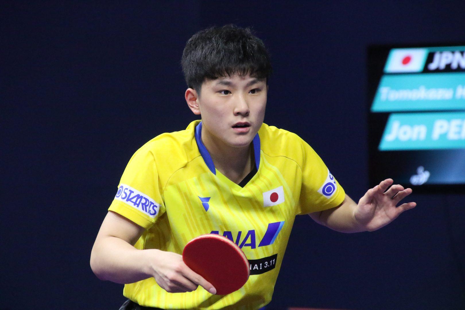 16歳最初のシングルスに挑んだ張本智和 快勝で2回戦進出<韓国OP>