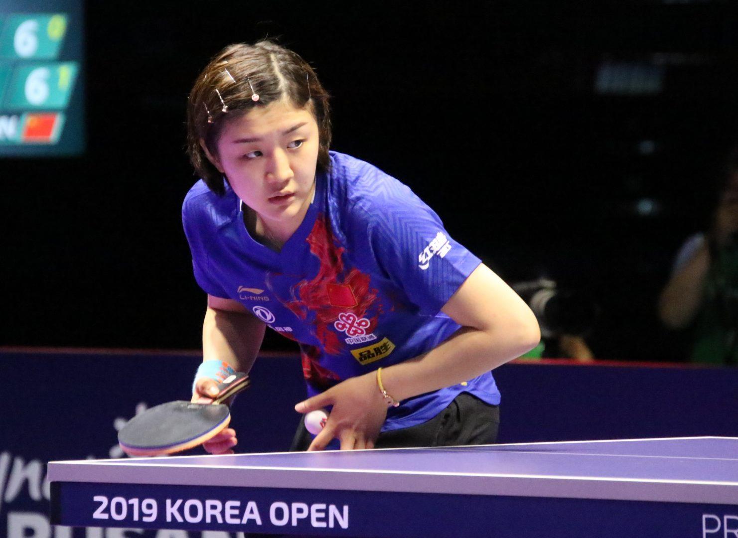 丁寧と陳夢が決勝進出 先輩の意地を見せ中国対決を制す<韓国オープン>