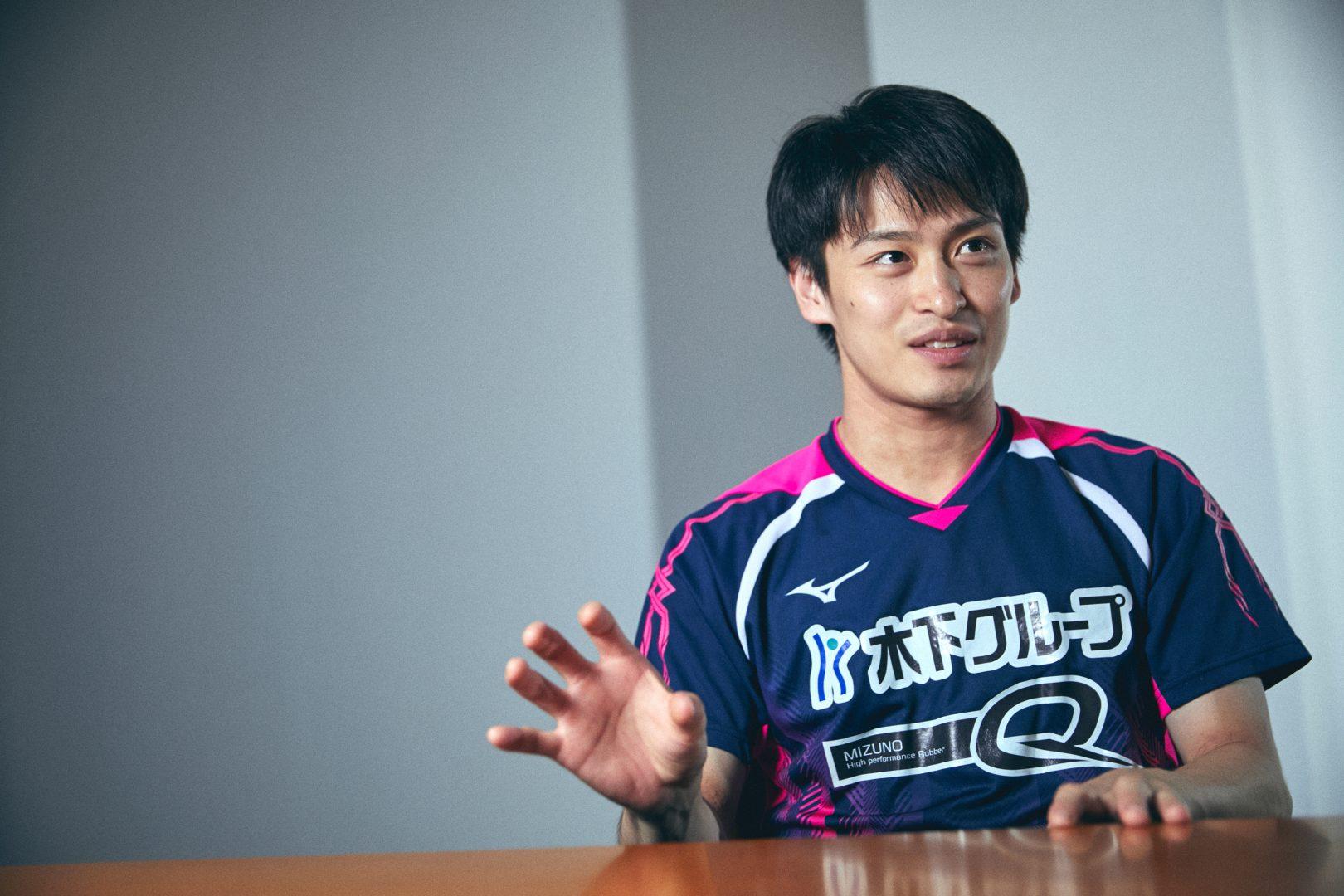 大島祐哉が語る戦略的思考「卓球にはストーリーがある」