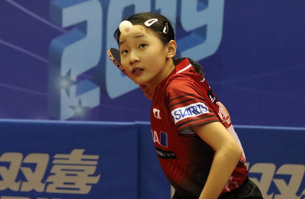 張本美和、ホープス優勝で3世代V達成<卓球・全日本ホカバ女子>