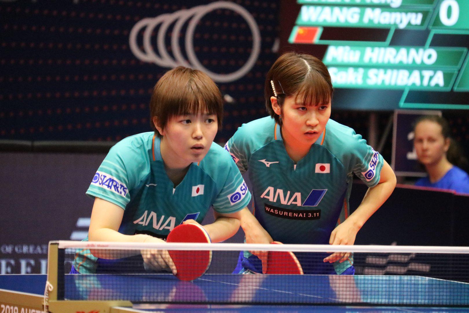 平野・芝田、中国ペアにリベンジならず 木原・長崎は4強入り<卓球・オーストラリアオープン>