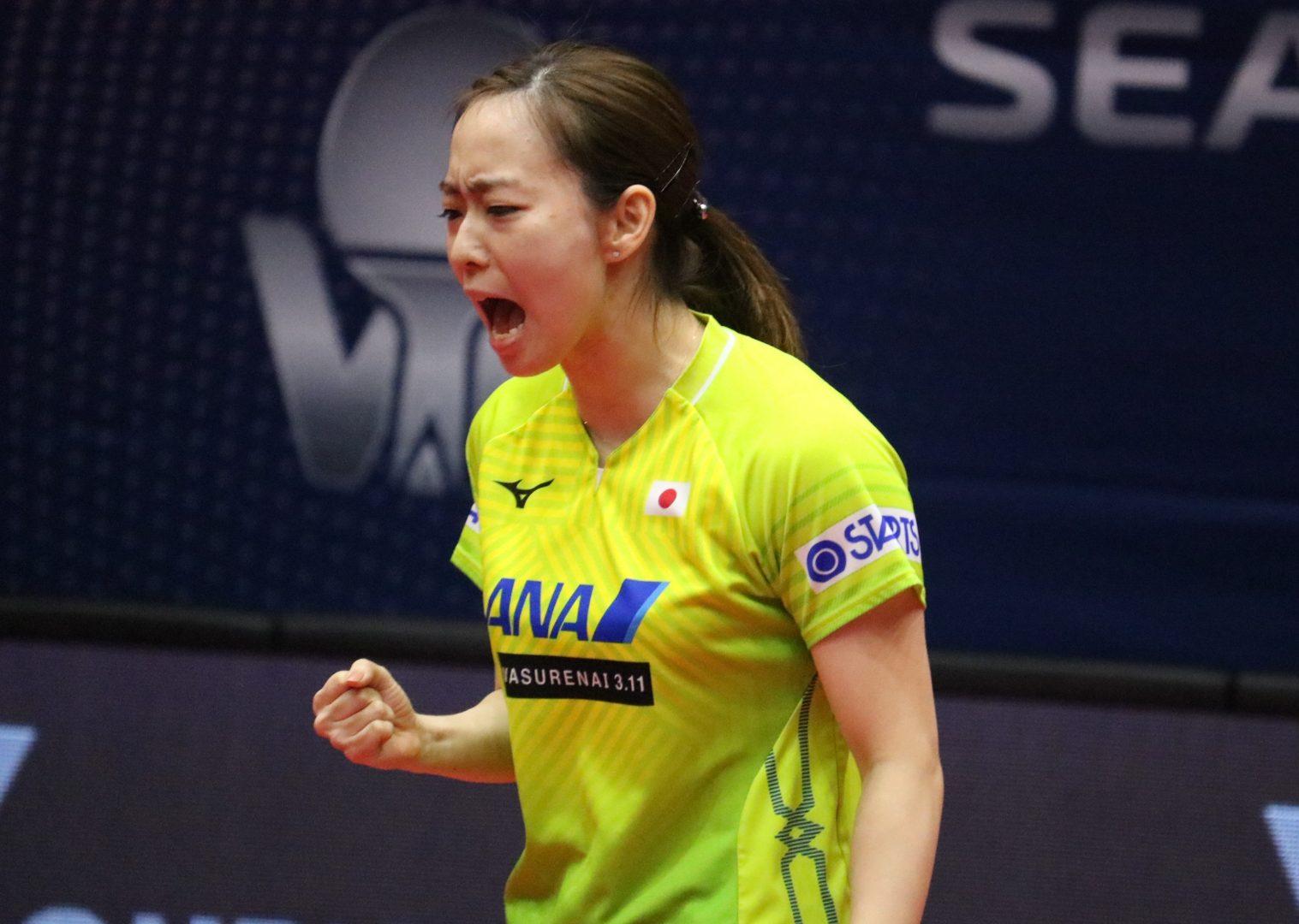 石川佳純、涙の勝利 世界ランク1位・陳夢に金星<オーストラリアオープン>