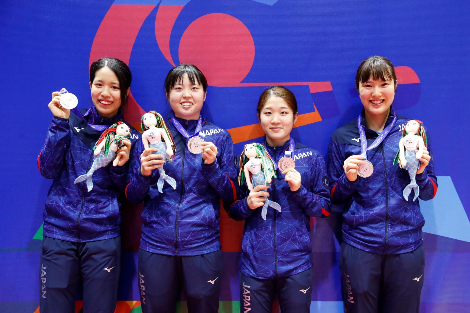 安藤、笹尾らの女子団体準V 男女合計5個のメダルを獲得<卓球・ユニバーシアード>
