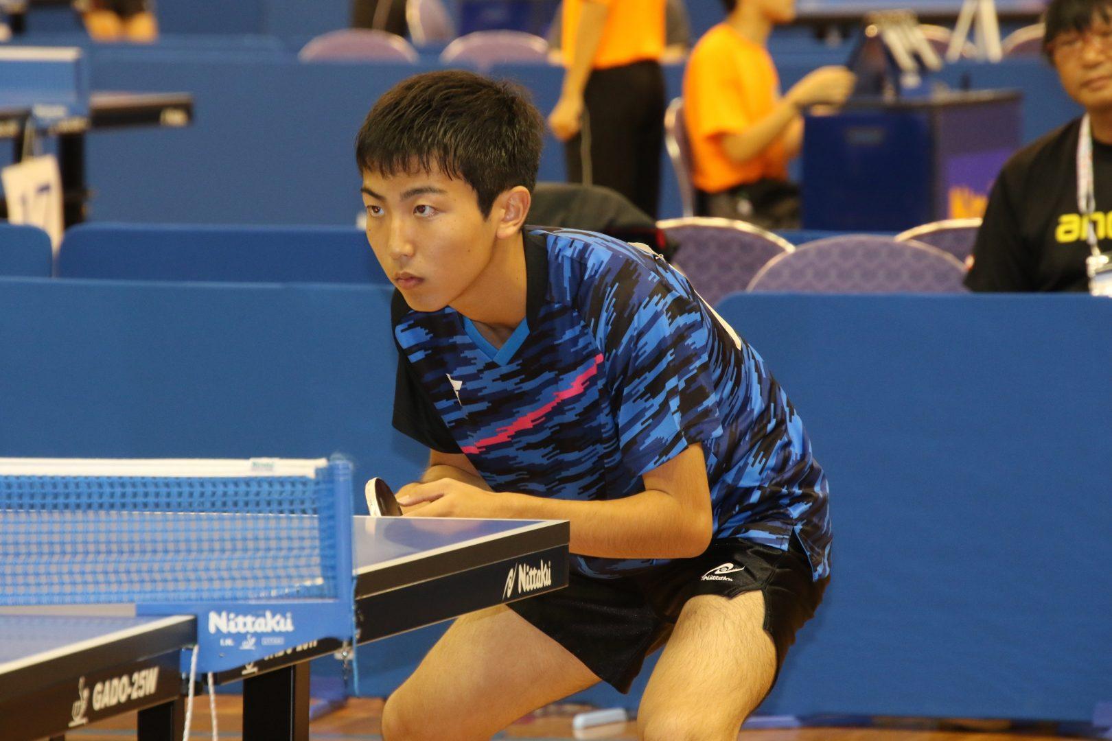 偏差値78の進学校からインターハイ  文武両道の1年生が登場<卓球男子・個人の部>
