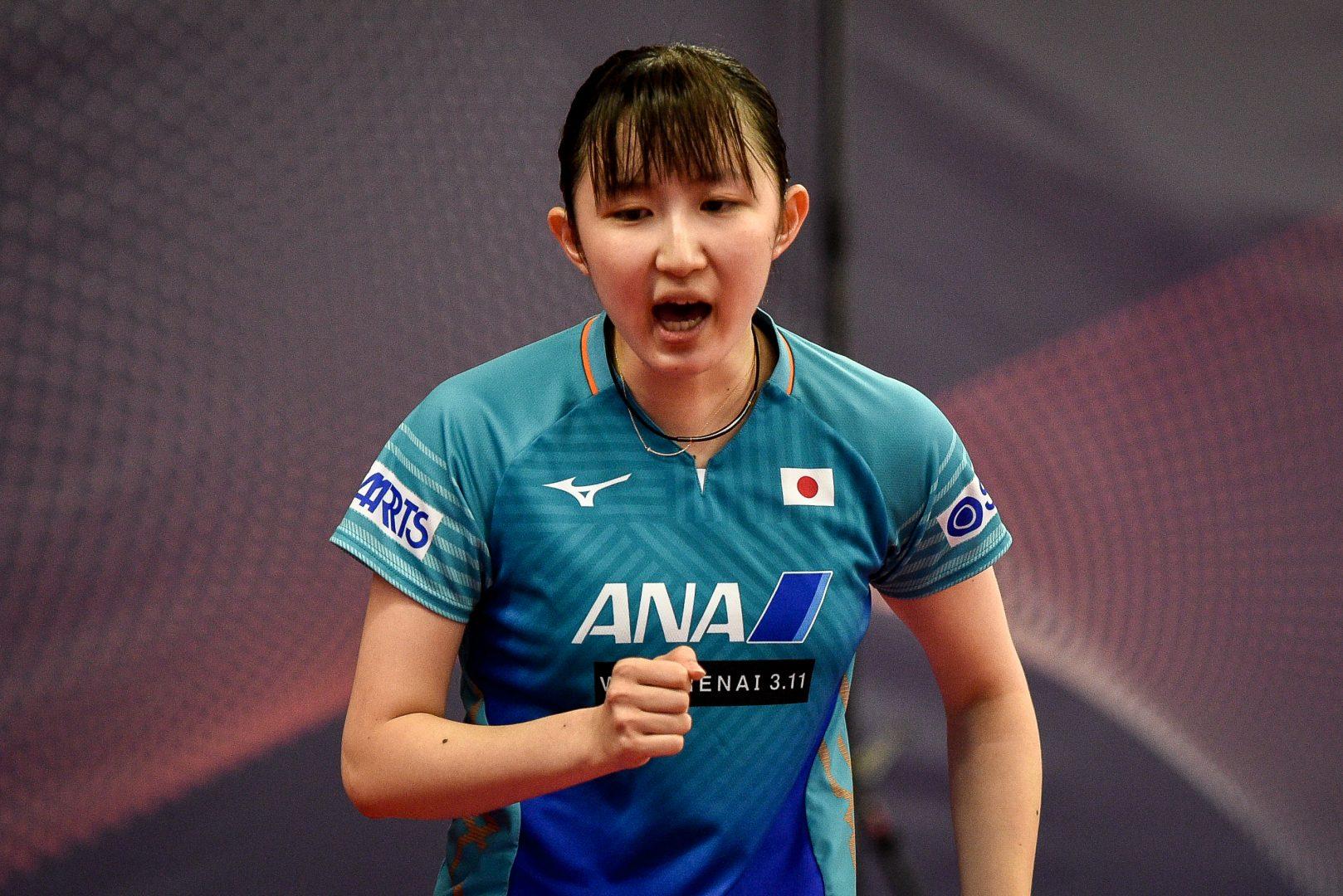 早田ひな、逆転勝利で本戦決定戦へ<卓球・チェコオープン>
