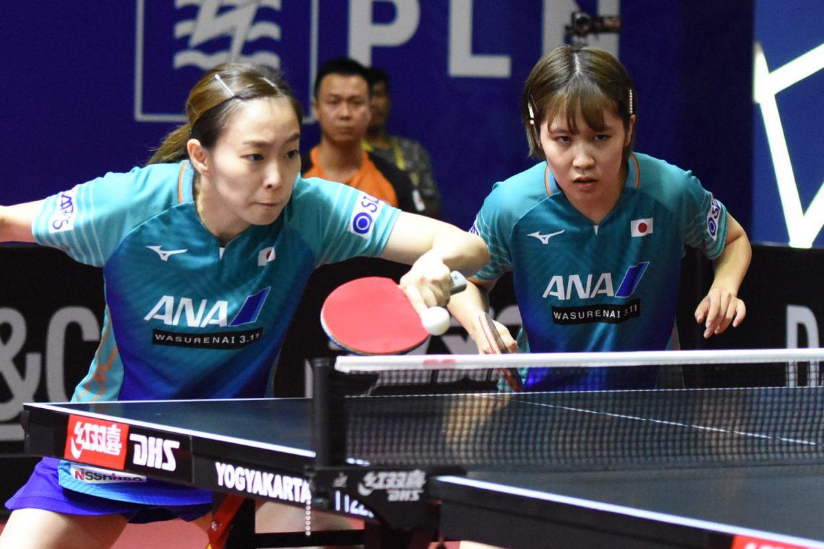 日本女子、ダブルスで2つの銅メダル<アジア卓球選手権>