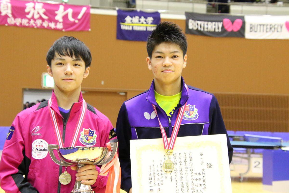 木造勇人(写真左)、田中佑汰(写真右)